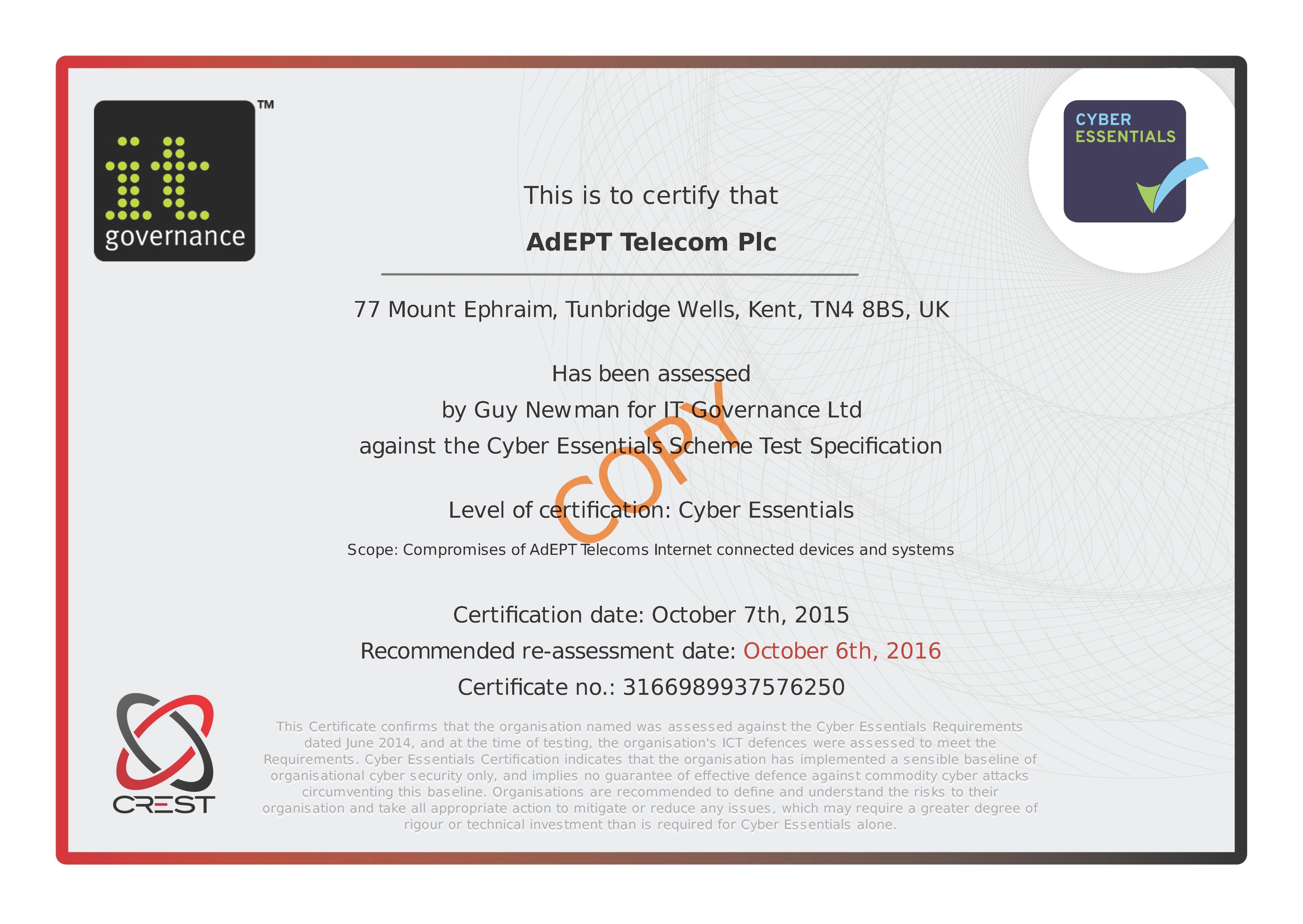 Adept Telecom Plc Ces Certificate 4950480431482208 Copy Stamped